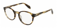 ALEXANDER MCQUEEN AM0075O 004 SHINY BROWN STRIPED HAVANA