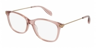 ALEXANDER MCQUEEN AM0094O 003 SHINY TRANSPARENT PINK