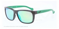 Arnette AN4196 22413R BLACK light green mirror green