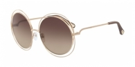 CHLOE Carlina CE114SD-784 ROSE GOLD/TRANSPARENT BROWN
