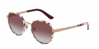 DOLCE & GABBANA DG2227J 12984Q PRINT FLOWER POWER/ROSE GOLD