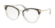 PRADA PR 53UV MRU1O1 STRIPED GREY