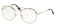 PRADA PR 55UV UAO1O1 SPOTTED OPAL BROWN/PALE GOLD