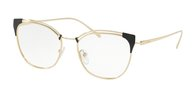 PRADA PR 62UV YEE1O1 GREY/PALE GOLD