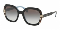 PRADA PR 16US KHR0A7 BLACK AZURE/SPOTTED BROWN