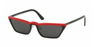 PRADA PR 19US YVH5S0 RED BLACK