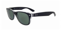 RAY-BAN New Wayfarer RB2132 605258 TOP BLACK ON TRASPARENT