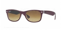 RAY-BAN New Wayfarer RB2132 605485 TOP MATTE BORDEAUX ON TRANSPARENT