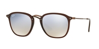 Ray-ban RB2448N 62569U SHINY TRASPARENT BROWN