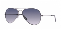 Ray-ban RB3025 004/78 GUNMETAL CRYSTAL POLAR BLUE GRAD.GRAY