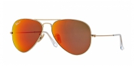 Ray-ban RB3025 112/4D MATTE GOLD BROWN MIRROR RED POLAR