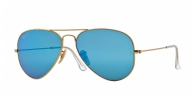 Ray-ban RB3025 112/4L MATTE GOLD BLUE MIRROR POLAR