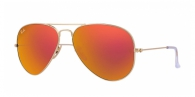 Ray-ban RB3025 112/69 MATTE GOLD ORANGE MIRROR