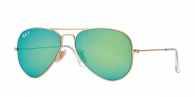 Ray-ban RB3025 112/P9 MATTE GOLD GREEN MIRROR POLAR