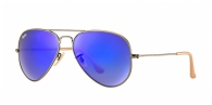 Ray-ban RB3025 167/68 BRUSHED BRONZE BLUE MIRROR