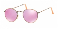 RAY-BAN Round Metal RB3447-167/4K DEMIGLOS BRUSCHED BRONZE