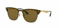 RAY-BAN Blaze Clubmaster RB3576N 043/73 BRUSHED GOLD
