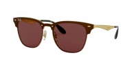 RAY-BAN Blaze Clubmaster RB3576N 043/75 BRUSHED GOLD