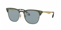 RAY-BAN Blaze Clubmaster RB3576N 917280 BRUSHED GOLD