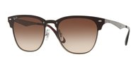 RAY-BAN Blaze Clubmaster RB3576N 041/13 GUNMETAL STRIPED