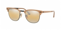 RAY-BAN Clubmaster Metal RB3716 9157AG BLACK ON TOP MATTE BEIGE