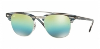 RAY-BAN Clubmaster Doublebridge RB3816-1239I2 SILVER