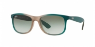 RAY-BAN Andy RB4202 63688E GRAD GREEN ON LT BROWN RUBBER