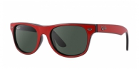 RAY-BAN JUNIOR Junior Wayfarer RJ9035S 162/71 TOP RED ON BLACK/GRAY GREEN