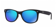 RAY-BAN JUNIOR RJ9052S 100S55 MATTE BLACK BLUE MIRROR