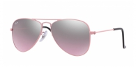 RAY-BAN JUNIOR Junior Aviator RJ9506S 211/7E PINK PINK MIRROR SILVER GRADIENT