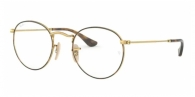 RAY-BAN Round Metal RX3447V 2945 GOLD ON TOP HAVANA
