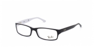RAY-BAN  RX5114-2097 BLACK/WHITE EDGE