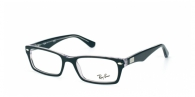 RAY-BAN  RX5206-2034 TOP BLACK ON TRANSPARENT