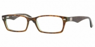 RAY-BAN  RX5206-2445 HAVANA-GREEN DEMO LENS