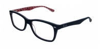 RAY-BAN RX5228 2479 TOP BLACK ON WHITE/RED DEMO LENS