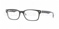 RAY-BAN  RX5286-2034 TOP BLACK ON TRANSPARENT