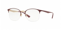 RAY-BAN  RX6422-3007 PINK GOLD ON TOP MATTE BORDEAU