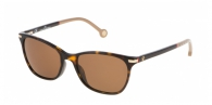 CAROLINA HERRERA SHE652 722P DARK BROWN / BEIGE / BROWN
