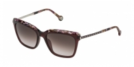 Carolina Herrera SHE689 0V01 SILVER / GARNET / BROWN GRADIENT