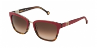 Carolina Herrera SHE699 0ACN DARK PINK / INNER BROWN / BROWN GRADIENT