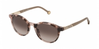 CAROLINA HERRERA SHE797 0AGK SHINY BROWN/PINK HAVANA