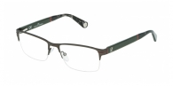 Carolina Herrera VHE055 0SED DARK GREEN / GREY HAVANA