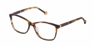 CAROLINA HERRERA VHE672 06YH SHINY STRIPED BROWN