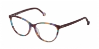 CAROLINA HERRERA VHE772 05AH BROWN/GREEN/VIOLET HAVANA